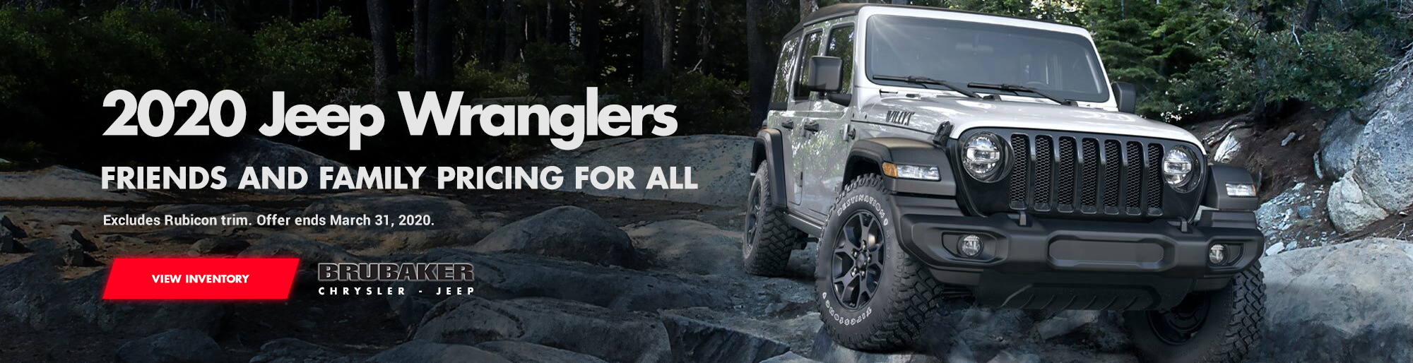 2020 Jeep Wrangler Friends and Family Pricing for all