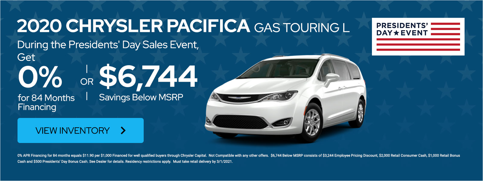 2020 Chrysler Pacifica Gas Touring L